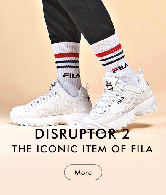 DISRUPTOR 2 <br> THE ICONIC ITEM OF FILA