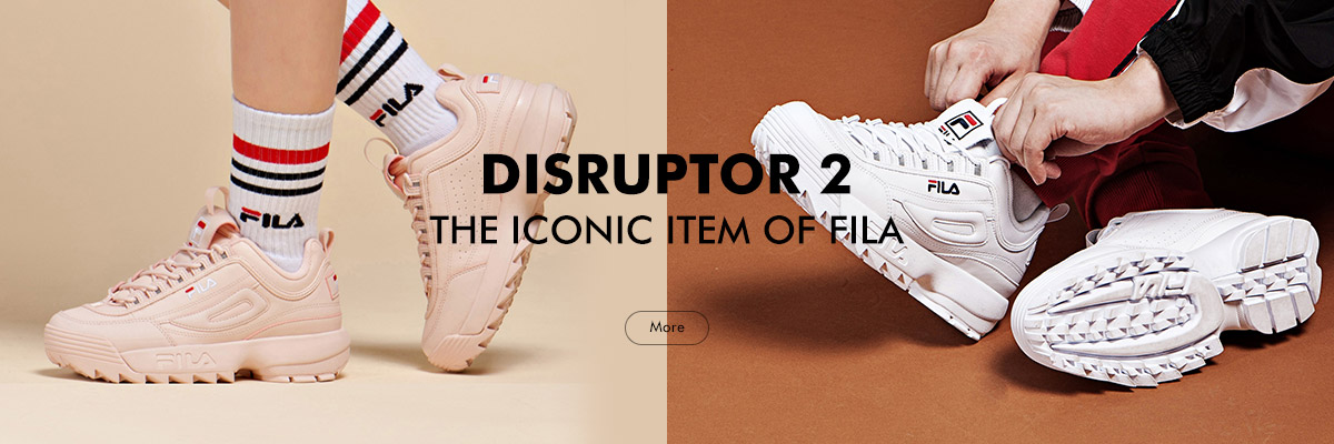 DISRUPTOR 2<br>THE ICONIC ITEM OF FILA